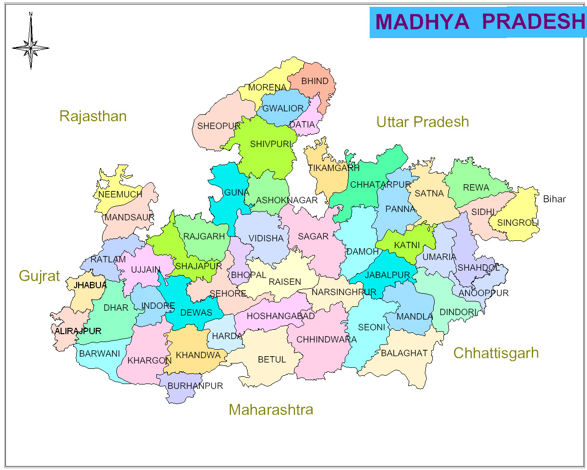 Mp State Map Maps of Madhya Pradesh | Maps of MP | GIS on MP | MP GIS | Madhya  Mp State Map