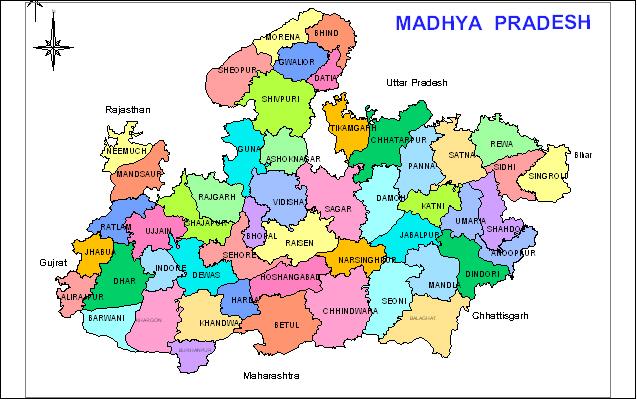 Map Of Mp State Maps of Madhya Pradesh | Maps of MP | GIS on MP | MP GIS | Madhya  Map Of Mp State